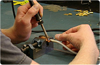Assembling test leads custom and standard configurations from Arbiter Systems, Inc.