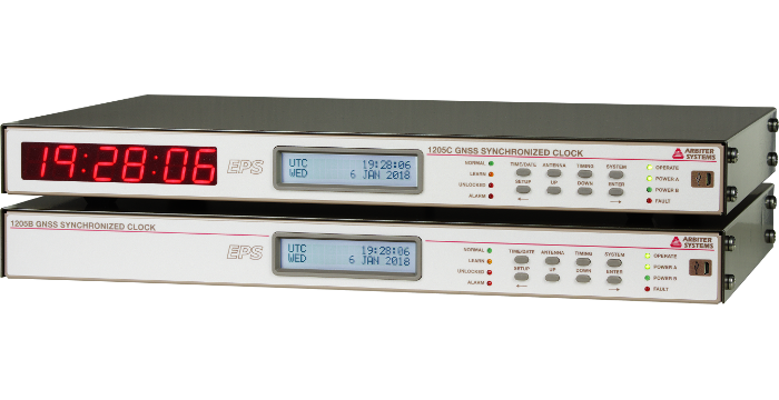Model 1205B/C GNSS Synchronized Clock (40ns) - Precision
