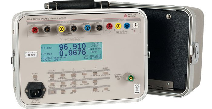 2 Phase Power Meters : Model a three phase power meter measurement series