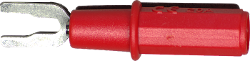 Safety Voltage to Spade Lug Adapter (Red)
