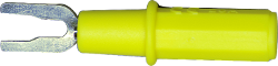 Safety Voltage to Spade Lug Adapter (Yellow)