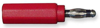 Adaptor Banana Shielded - Red